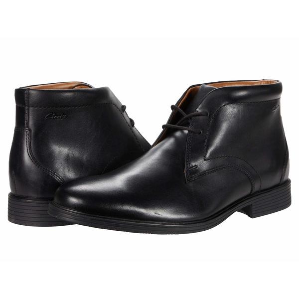 クラークス メンズ シューズ ブーツ&レインブーツ Waterproof Black Leather 全商品無料サイズ交換 クラークス メンズ ブーツ&レインブーツ シューズ Whiddon Mid Waterproof Black Leather