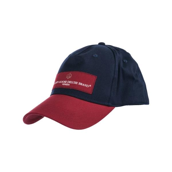 ゴールデングース レディース 帽子 アクセサリー Golden Goose Hat Baseball Cap Jackie NavyBordeauxlogo