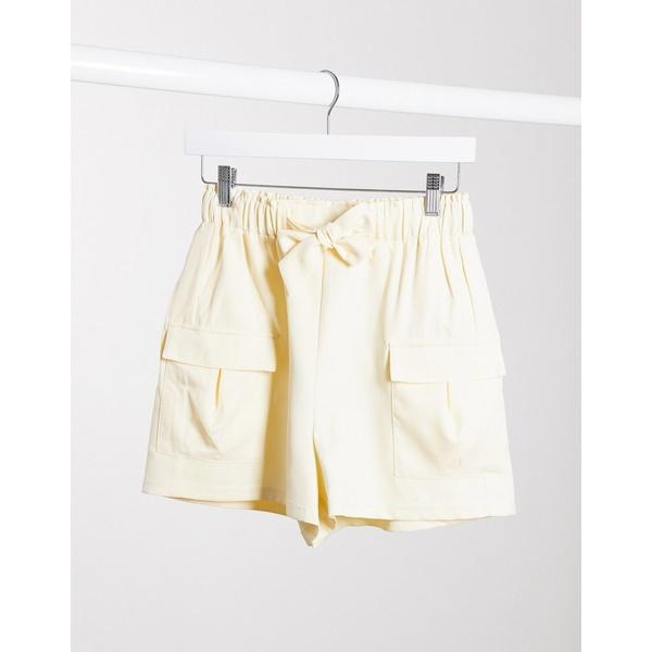 フォースレックレス レディース カジュアルパンツ ボトムス 4th + Reckless tailored utility short in cream Cream