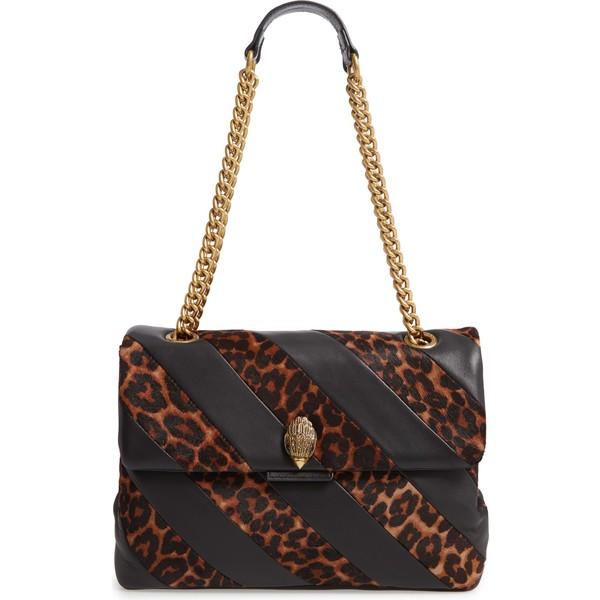 カートジェイガーロンドン レディース ハンドバッグ バッグ Kurt Geiger London Soho Leather & Genuine Calf Hair Shoulder Bag Black Leather/ Calf Hair