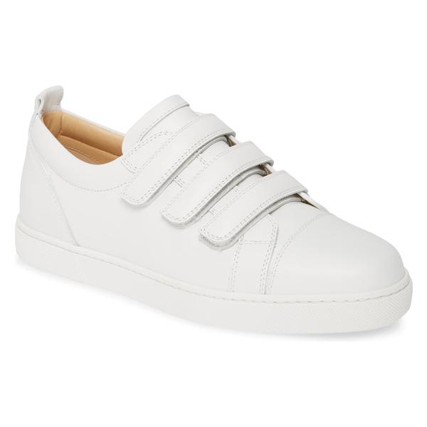 クリスチャン・ルブタン レディース スニーカー シューズ Christian Louboutin Kiddo Donna Three Strap Leather Sneakers White