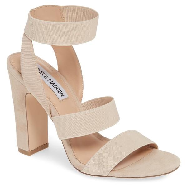 スティーブ マデン レディース サンダル シューズ Steve Madden Tiffani Ankle Strap Sandal (Women) Tan Suede