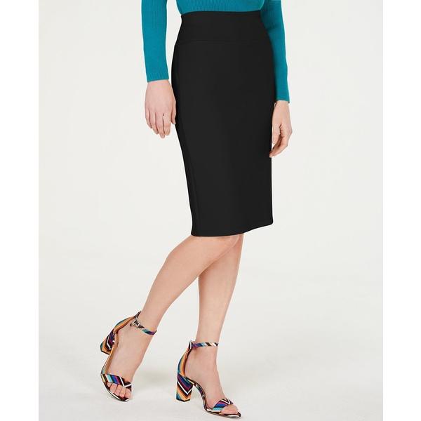 【返品交換不可】 アイエヌシーインターナショナルコンセプト レディース スカート ボトムス INC Solid Scuba Pencil Skirt, Deep Black, 電材PROショップ Lumiere 71d90183