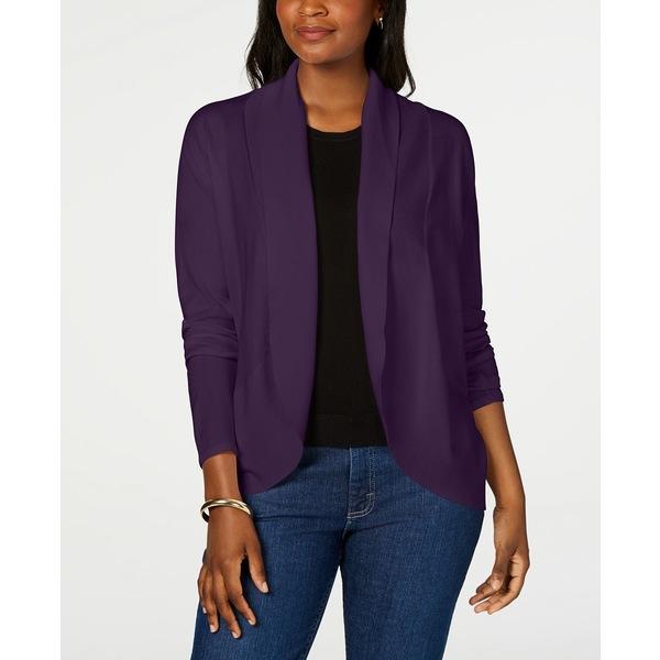 【NEW限定品】 ケレンスコット レディース ニット&セーター アウター Petite Curved-Hem Shawl Cardigan Sweater, Purple Dynasty, キタムログン 9fea4d1d