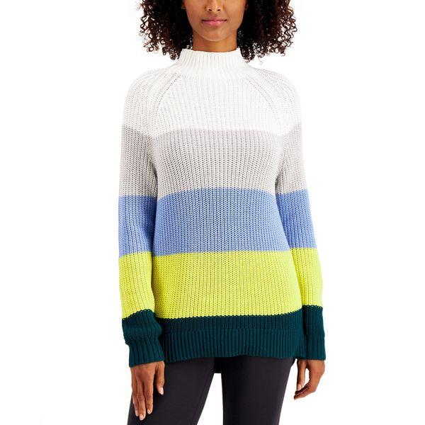【人気商品】 スタイルアンドコー レディース ニット&セーター アウター Cotton Mock-Neck Sweater, Cool Combo, ヨコテシ 0f432191