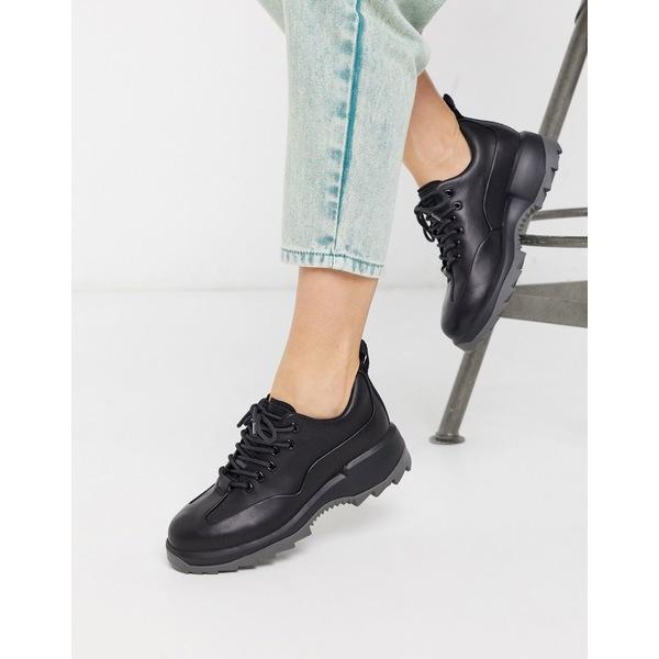 カンペール レディース スニーカー シューズ Camper chunky lace up sneakers in black Black