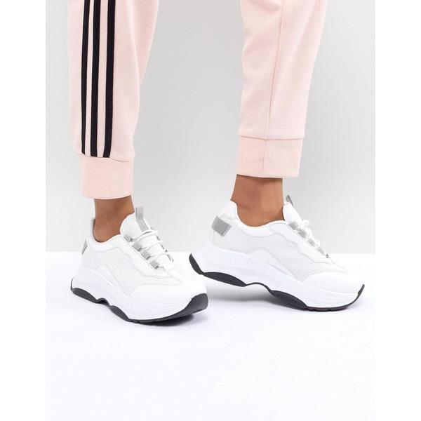 エイソス レディース スニーカー シューズ ASOS DESIGN Dare Chunky Sneakers White