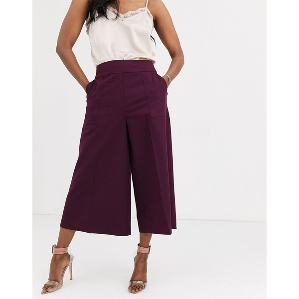 エイソス レディース カジュアルパンツ ボトムス ASOS DESIGN tailored Clean Culottes Claret