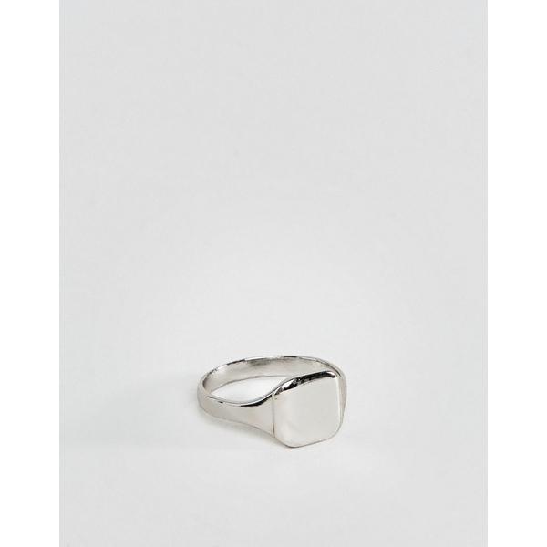 エイソス メンズ アクセサリー リング Silver 全商品無料サイズ交換 エイソス メンズ リング アクセサリー ASOS DESIGN pinky ring in silver tone Silver