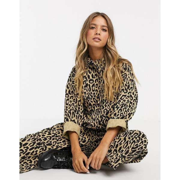 エイソス レディース トップス ワンピース Leopard print 全商品無料サイズ交換 エイソス レディース ワンピース トップス ASOS DESIGN oversized boiler jumpsuit in leopard print Leopard print