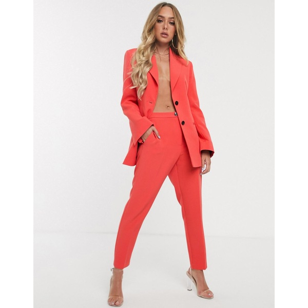 エイソス レディース カジュアルパンツ ボトムス ASOS DESIGN pop slim suit pants Red