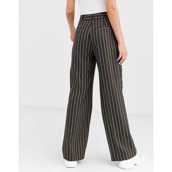 エイソス レディース カジュアルパンツ ボトムス ASOS DESIGN mensy suit pants in pinstripe Gray stripe