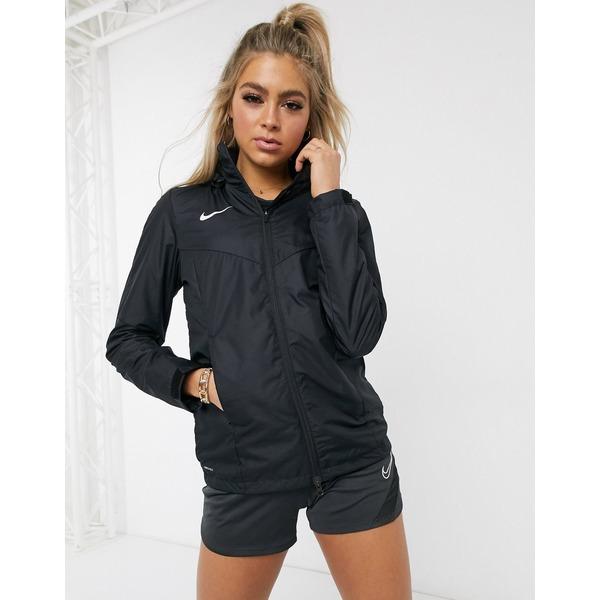 ナイキ レディース ジャケット&ブルゾン アウター Nike Soccer academy rain jacket in black Black