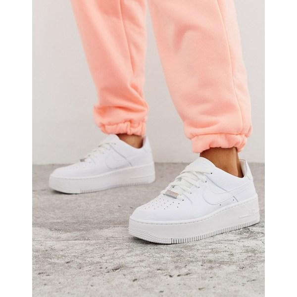 ナイキ レディース スニーカー シューズ Nike White Air Force 1 Sage Low Sneakers White