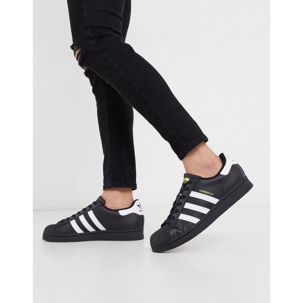 アディダスオリジナルス メンズ スニーカー シューズ adidas Originals Superstar sneakers in black Bk1 - black 1