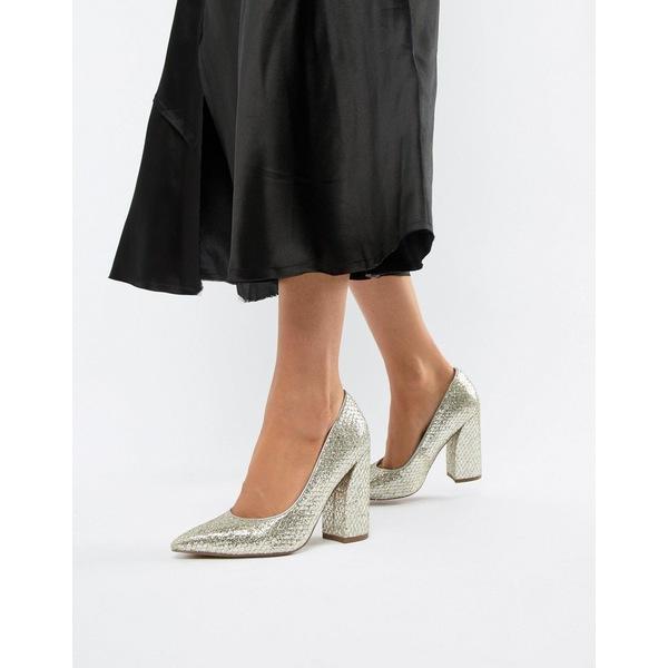エイソス レディース ヒール シューズ ASOS DESIGN Panama High Heels Glitter