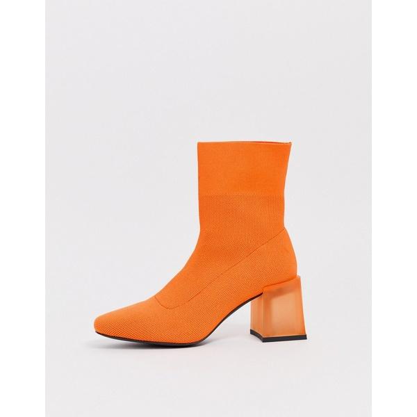 エイソス レディース ブーツ&レインブーツ シューズ ASOS DESIGN Reality ankle boots in orange Orange