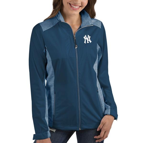 アンティグア レディース ジャケット&ブルゾン アウター New York Yankees Antigua Women's Revolve FullZip Jacket Navy