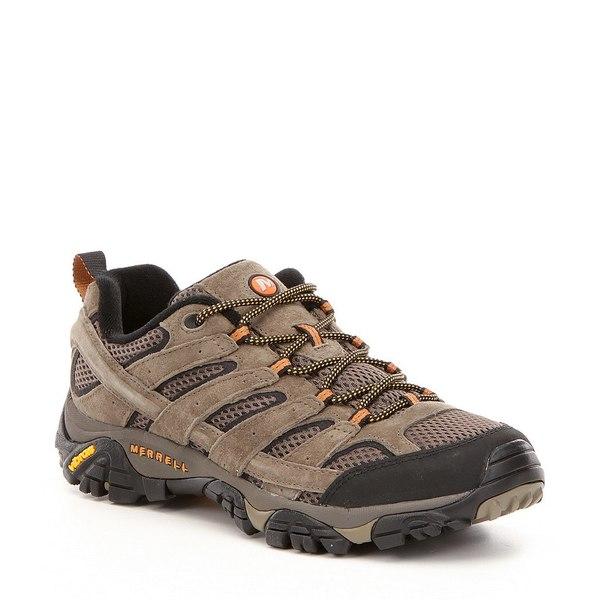 メレル メンズ スニーカー シューズ Men's Moab Ventilator 2 Suede & Mesh Lace-Up Hiking Shoes Walnut