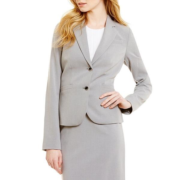 カルバンクライン レディース ジャケット&ブルゾン アウター Two-Button Suit Jacket Tin