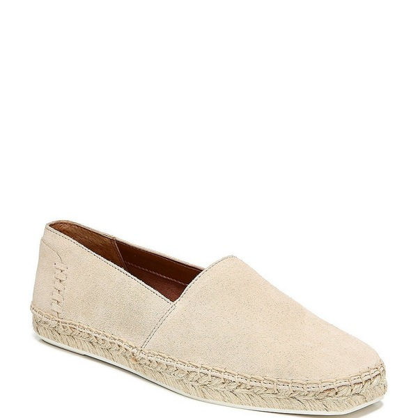 フランコサルト レディース スニーカー シューズ Kenna3 Suede Square Toe Espadrille Flatform Slip Ons Light Bone