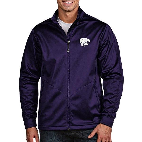 アンティグア メンズ ジャケット&ブルゾン アウター NCAA Golf Full-Zip Jacket Kansas State Wildcats Purple