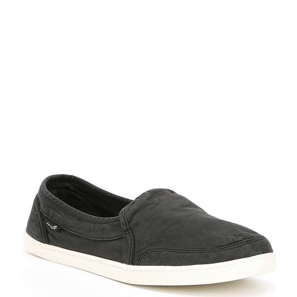 サヌーク レディース スニーカー シューズ Pair O Dice Canvas Slip-On Shoes Black