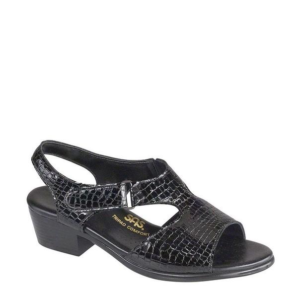 エスエーエス レディース サンダル シューズ Suntimer Croc Sandal Black Croc