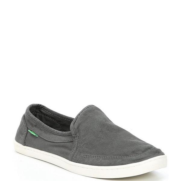 サヌーク レディース スニーカー シューズ Pair O Dice Canvas Slip-On Shoes Charcoal Grey