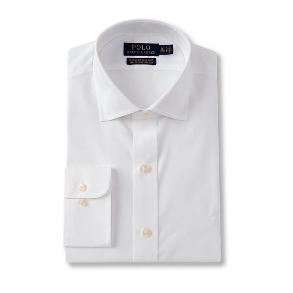 ラルフローレン メンズ シャツ トップス Classic Fit Spread Collar Solid Dress Shirt White
