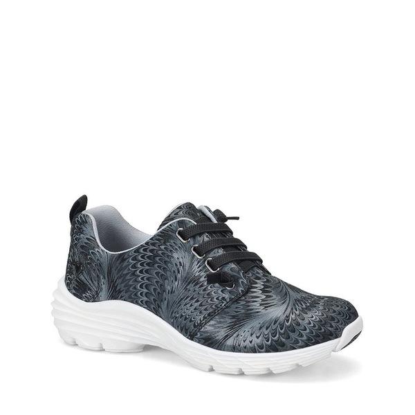 ナースメイト レディース スニーカー シューズ Velocity Printed Leather Sneakers Black Swirl