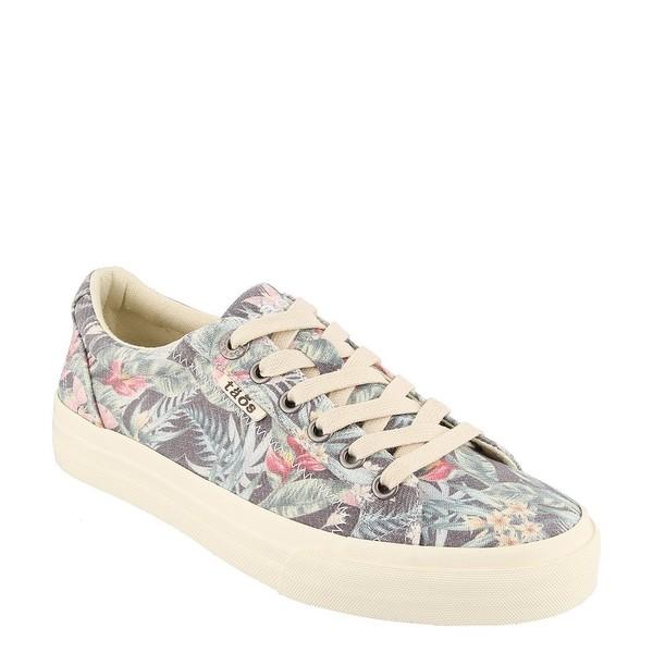 タオスフットウェア レディース スニーカー シューズ Plim Soul Tropical Floral Print Canvas Sneakers Black Tropical