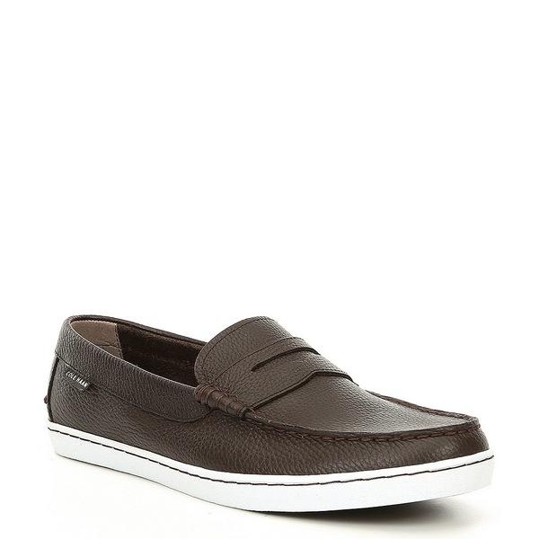 コールハーン メンズ スニーカー シューズ Men's Pinch Leather Weekender Loafer Java