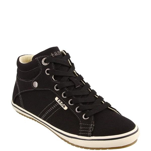 タオスフットウェア レディース スニーカー シューズ Top Star High Top Canvas Sneakers Black Canvas