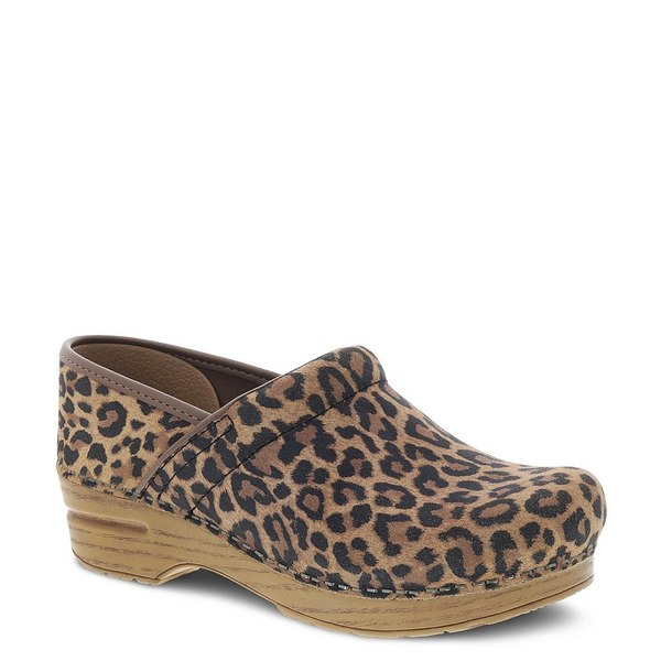 ダンスコ レディース サンダル シューズ Professional Leopard Print Suede Clog Leopard