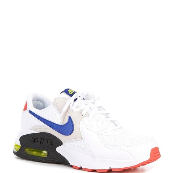 ナイキ メンズ スニーカー シューズ Men's Air Max Excee Lifestyle Shoes White/Bright Cactus/Track Red/Hyper Blue