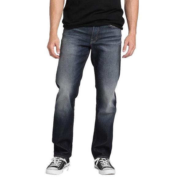 シルバージーンズ メンズ デニムパンツ ボトムス Eddie Relaxed Tapered-Fit Comfort Stretch Jeans Indigo