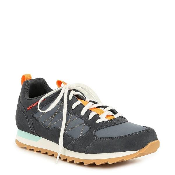 メレル メンズ スニーカー シューズ Men's Alpine Leather & Nylon Lace-Up Sneaker Blue