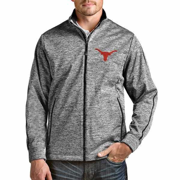 アンティグア メンズ ジャケット&ブルゾン アウター NCAA Golf Full-Zip Jacket Texas Longhorns Black Heather