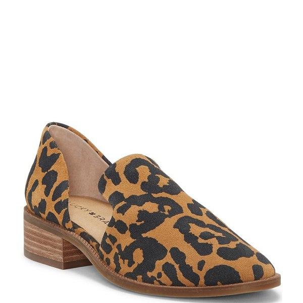 ラッキーブランド レディース サンダル シューズ Gennifa Leopard Print Suede Loafers Natural Leopard