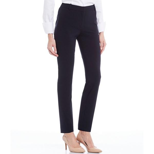 カルバンクライン レディース カジュアルパンツ ボトムス Luxe Stretch Slim-Leg Pants Navy