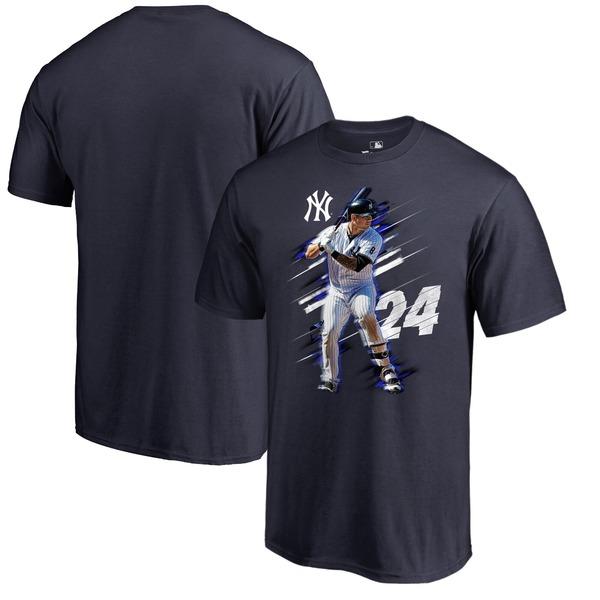 ファナティクス メンズ Tシャツ トップス Gary Sanchez New York Yankees Fanatics Branded Fade Away TShirt Navy