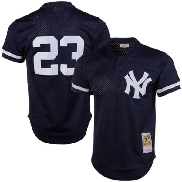 ミッチェル&ネス メンズ ユニフォーム トップス Don Mattingly New York Yankees Mitchell & Ness 1995 Authentic Cooperstown Collection Mesh Batting Practice Jersey Navy