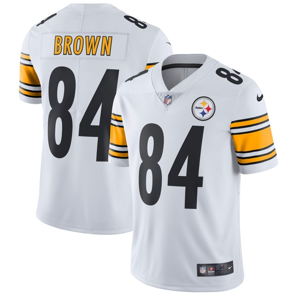 ナイキ メンズ ユニフォーム トップス Antonio Brown Pittsburgh Steelers Nike Vapor Untouchable Limited Player Jersey White