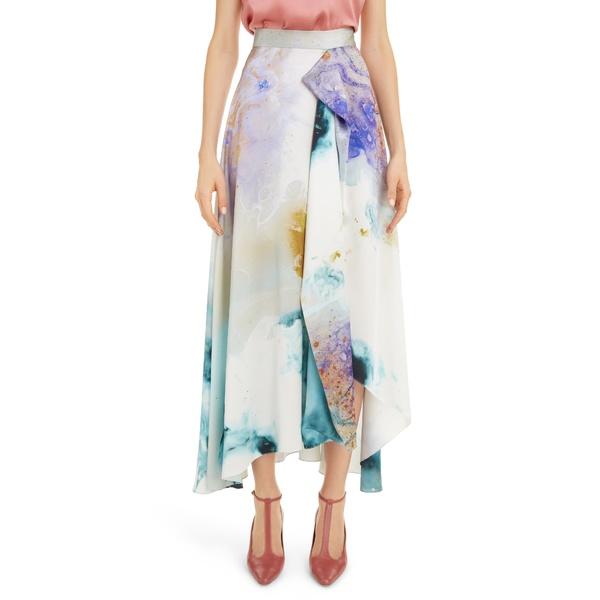 【上品】 ロクサンダ レディース スカート ボトムス Watercolor Print Silk Maxi Skirt GOLD EXPLOSION PRINT, お宝創庫 272d0950
