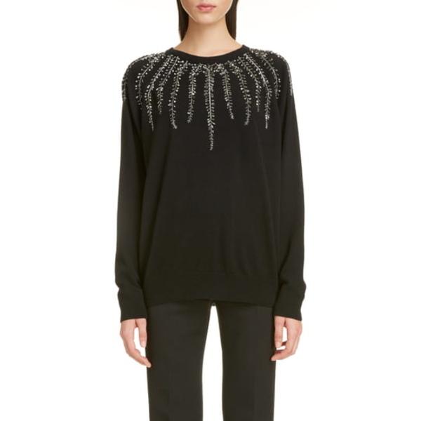Sweater Cashmere ニット&セーター アウター & Embellished 001-BLACK ジバンシー レディース Wool Willow
