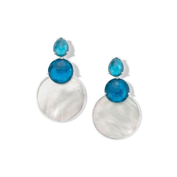 イッポリスタ レディース アクセサリー ピアス 高級品 イヤリング 低価格化 SILVER 全商品無料サイズ交換 Earrings Silver Sterling Drop Shell Layered