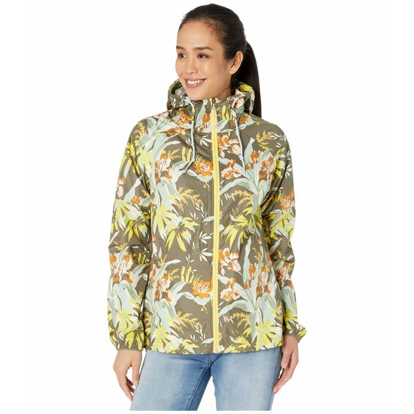 コロンビア レディース コート アウター Side Hill Printed Windbreaker (Buttercup Magnolia Floral