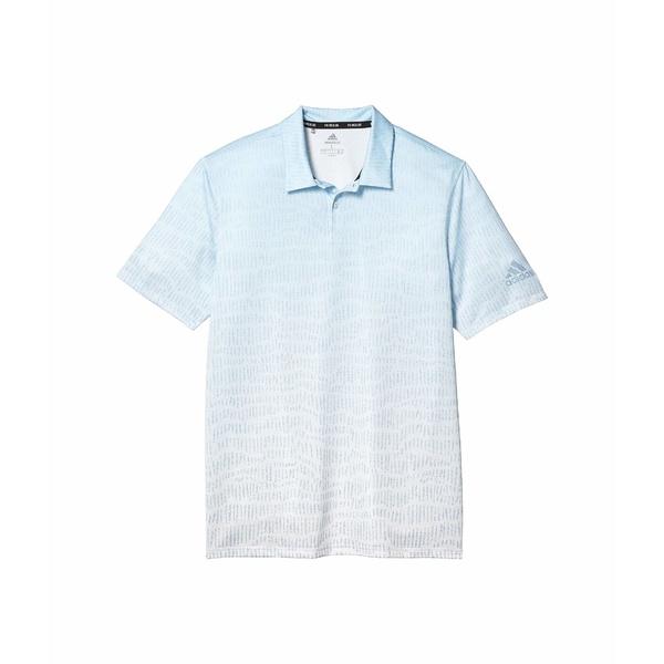 アディダス メンズ シャツ トップス Primeblue Block Polo Shirt Easy Blue