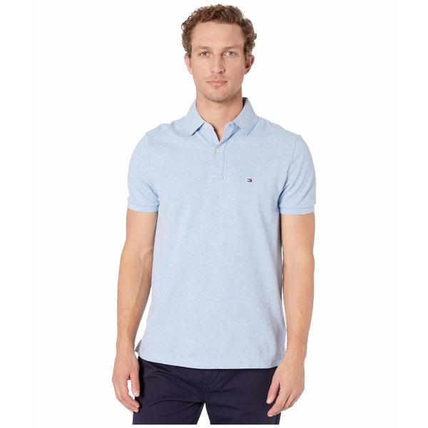 トミー ヒルフィガー メンズ シャツ トップス Ivy Polo Shirt Custom Fit Malaga Blue Heather